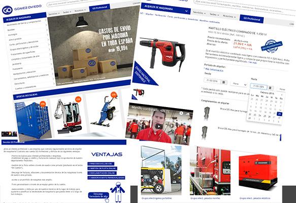 Gomez Oviedo, empresa de nuestro grupo, estrena tienda online de Alquiler de Maquinaria